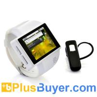 Wholesale Rock - Android Phone Watch - White (Quad Band, 2 Inch, 2MP Camera) from china suppliers