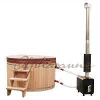 Buy cheap 2100*900/1000/1200MM Sauna Hot Tub With Burning Stove Garden A Grade clear  Cedar Tub from wholesalers