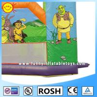 Wholesale Fashion Air Tight Inflatable Barrier Cartoon Shrek Inflatable Obstacle Course For Kids from china suppliers