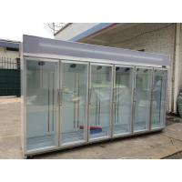 Wholesale Free Standing Glass Door Refrigerator Showcase Cold Storage Chamber from china suppliers