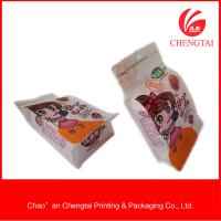 Wholesale Zippered Flat Bottom Pouches Eco - Friendly Flat Bottom Coffee Bags With Clear Window from china suppliers