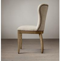 Wholesale Barrelback shape Sturdy Modern contemporary Fabric Dining Chair with Solid Wood from china suppliers