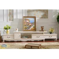 Wholesale Wall Unit White Corner TV Stand Cabinet  Wooden Furniture European Style from china suppliers