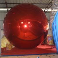 Wholesale 4 M Red  Inflatable MIirror Balloon /Inflatable Decorative Ball For Exhibition Or Show from china suppliers