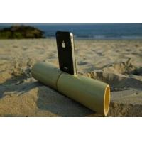 Wholesale hot selling bamboo speaker,cylindrical portable mini loudspeaker for iphone5 from china suppliers