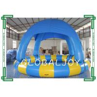 Wholesale Commercial Inflatable Round Swimming Pool With Cover Roof 0.6mm PVC Tarpaulin from china suppliers