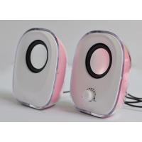 Wholesale Dual Channel Small Desktop Speakers 6 Watt USB With LED Lights from china suppliers