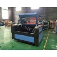Wholesale Blue and black wood fabric leather cnc laser engraving machine 1300*900mm Working area from china suppliers
