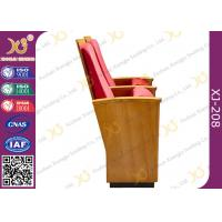 Wholesale Luxury Decor Solid Wood Church Auditorium Seating Hidden Leg Audience Seating Chairs from china suppliers