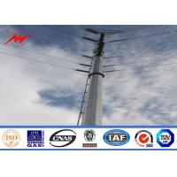 Wholesale 132KV hot galvanization electrical power pole for electrical line from china suppliers