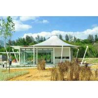Wholesale Luxury Resort Vacation Resort Canopy Large Camp Tent Hotel With Lining / Floor from china suppliers