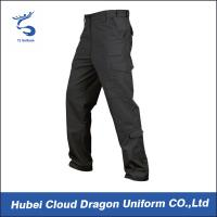 Buy cheap Men Poly Cotton Tactical Combat Pants / Black Tactical Cargo Pants from wholesalers