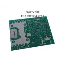 Wholesale FR-4 base 4-Layer Double sided Rigid TV pcb board 1.0mm Thickness , 35um Copper from china suppliers