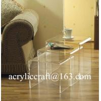 Wholesale New transparent n shap acrylic furniture plexiglass coffee table from china suppliers