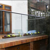 Wholesale Interior frameless glass balcony systems with powder coated Aluminum U channel from china suppliers