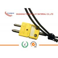 Buy cheap K Type Thermocouple Standard Solid Pin Connectors with yellow colour or green colour from wholesalers