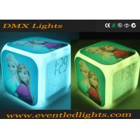 Wholesale 7 Colors Changing Led Cube Alarm Clock For Room , Promotion Glowing Alarm Clock With Light from china suppliers
