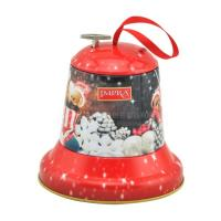 Wholesale Christmas bell shaped music tin box Christmas decoration for candy from china suppliers