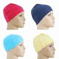 Buy cheap Non-toxic Swim Caps, Made of Lycra Material, Customized Logo Printings are from wholesalers