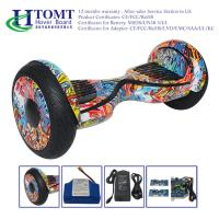 Wholesale 10 inch Mobile APP LED light Electric Hoverboard with Bluetooth Speaker , Two Wheels Self Balancing Scooter from china suppliers