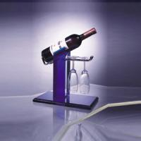 Wholesale Eco-Friendly Acrylic Wine Display Holder For 1 Bottle , 2 Glasses from china suppliers