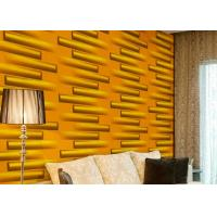 Wholesale Removable Decorative Wall Panel 3D Wallpapers For Home Wall Decor Green / Yellow / White from china suppliers