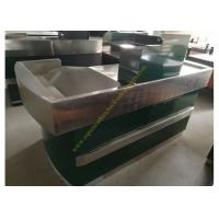 Quality Glossy Stainless Steel Supermarket Checkout Counter / shop cash counter for sale
