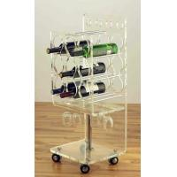 Wholesale Clear Acrylic Rolling Two Shelf Pure Acrylic Tea Serving Cart with Casters Acrylic Dining Serving Cart with Wheels from china suppliers