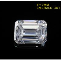 Wholesale 3.55CT Emerald Cut Fancy Cut Loose Moissanite DEF Color Super White VVS1 10x8MM from china suppliers