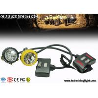 Wholesale 28000lux Led 12Ah IP68 Waterproof Coal Miner Cap Lights With Two Color Head Housing from china suppliers