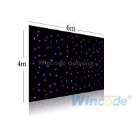 Wholesale Twinkle Effects LED Star Curtain 4m X 6m , Led Light Curtain Wall RGB / Single Color from china suppliers