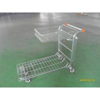 Wholesale Supermarket Warehouse Trolley cart with square steel tube base and logo on handle from china suppliers