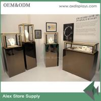 Wholesale Jewelry store design glass display jewelry with LED jewelry shop showcase for sale from china suppliers