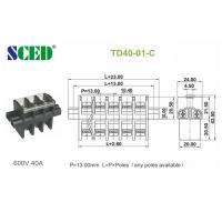 Wholesale Feed Through PBT Screw Terminal Block Connector 600V 40A  13.00mm from china suppliers
