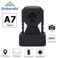 Wholesale H.264 1296P True HD Video Security Guard Body Camera With GPS Recording from china suppliers