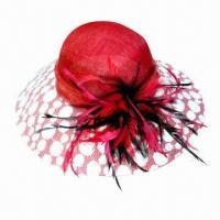 China Ladies' sinamay hat, assorted designs and colors are available on sale