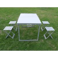 Wholesale Weather - resistant Aluminum Folding Camping Picnic Table & Chairs 4 Legs For Party from china suppliers