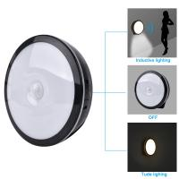 Wholesale Round Shaped Motion Sensing Led Closet Light , USB Charger Night Sensor Stair And Hallway Lights from china suppliers