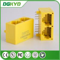 Wholesale DGKYD112B002IWB1D 8P8C rj45 multi port jack , 8 pin modular connector yellow color from china suppliers