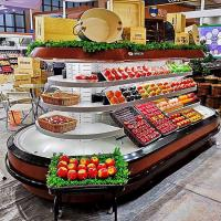 Wholesale Automatic Refrigerated Display Cabinet Open Air Display Cooler For Vegetable Fruit from china suppliers
