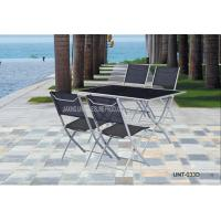 Wholesale Aluminium Outdoor Bistro Table And Chairs / Dining Furniture Sets UV Resistant from china suppliers