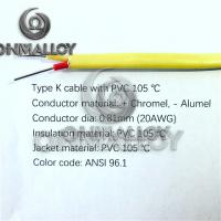 Wholesale 0.81MM K type thermocouple wire ANSI 96.1 PVC coat and insulation 105 degress from china suppliers