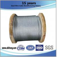 Wholesale ASTM A 475 EHS 1 4 Inch Galvanized Cable Stiffness With Wooden Reel Packing from china suppliers