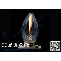 Wholesale Traditional LED Flame Lights Mini C9 Edison Bulb E12 1w 110v-240vac from china suppliers