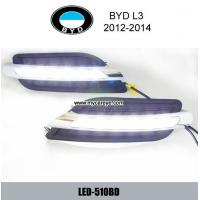 Wholesale BYD L3 DRL LED Daytime driving Lights Car front daylight autobody light from china suppliers