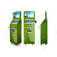 Wholesale Low price Best quality customized functional lobby Self service dual screens touchscreen kiosk with fingerprint reader from china suppliers