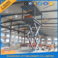 Wholesale 5T 5.36M Double Platform Scissor Car Lift for Villa In-ground Car Lift for House from china suppliers
