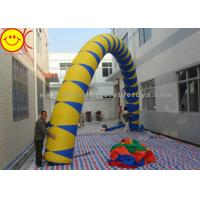 Wholesale Airblown Giant Yellow / Blue PVC Inflatable Arch 13 ft - 50 ft Wide Inflatable Archway from china suppliers