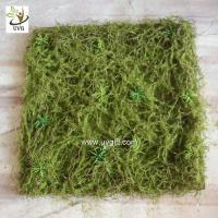 Wholesale UVG 30cm micro soft artificial grass mat with nylon moss for beach wedding decor GRS042 from china suppliers