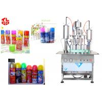 Wholesale Aerosol Bottle Filling Machine For Party Snow Spray Can , Aerosol Filling Equipment from china suppliers